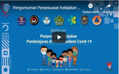 Pengumuman Penyesuaian Kebijakan Pembelajaran di Masa Pandemi Covid-19